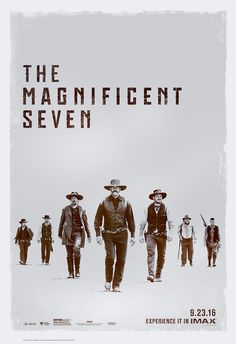 The Magnificent Seven Movie Poster Magnificent Seven Movie, Hd Movies, Movie Tv, Denzel Washington, Tv Series Online, Alternative Movie Posters, Western Movies, Film Posters, Hd 1080p