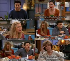 Image discovered by Bookalcohilic. Find images and videos about funny, friends and tv show on We Heart It - the app to get lost in what you love. Friends Scenes, Friends Moments, Friends Tv Show, Friends Forever, Friends In Love, Stupid Funny Memes, Funny Relatable Memes, Hilarious, Friends Thanksgiving Episodes