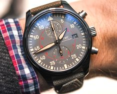 """IWC Pilot's Watch Chronograph Top Gun Miramar Hands-On - by Zach Pina - Reduced from 46mm to 44mm, check out the Top Gun at: aBlogtoWatch.co - """"It might be the year of the monkey, but for IWC, it's been the year of the pilot watch. After a series of well-received updates to both its Top Gun and Classic pilot collections announced at SIHH 2016, it could be argued that the Schaffhausen manufacture's bread-and-butter fare is punctuating a return to its former glory..."""""""