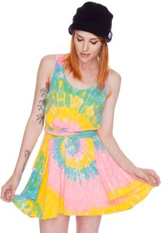 Deadstock Tye Die Dress from Dolls Kill