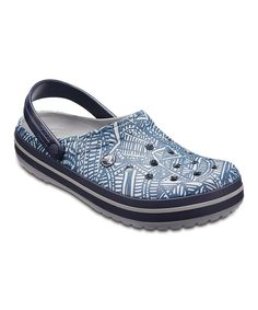 ae268d220cc Crocs Light Gray   Navy Crocband Graphic Clog - Adult