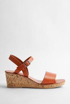 APC cork sandals