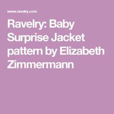 Baby Surprise Jacket Pdf