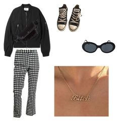"""""""Untitled #175"""" by charlottemartin ❤ liked on Polyvore featuring John Galliano, Maison Margiela, American Apparel and Converse"""