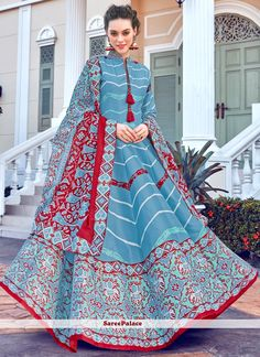 Silk Multi Colour Digital Print Trendy Gown Silk Anarkali Suits, Anarkali Gown, Lehenga, Silk Kurti, Churidar, Salwar Kameez, Party Wear Long Gowns, Printed Gowns, Printed Silk