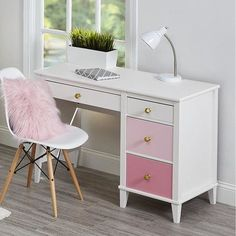 Small Kids Room Desk Home Office 22 Ideas Desk For Girls Room, Girl Desk, Girls White Desk, White Desk For Kids, Desks For Girls, Teen Desk, Teenage Girl Bedrooms, Girls Bedroom, Childs Bedroom
