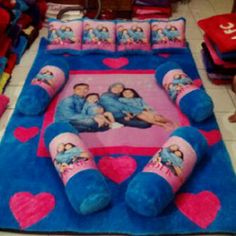 Karpet Bulu: Karpet Bulu Karakter Photo Keluarga
