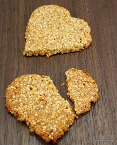 honey sesame crisps -- eggless, flourless, sugarless --