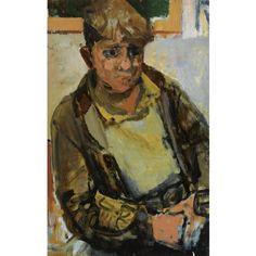 Joan Eardley - A GLASGOW BOY, oil on panel, 48.5 x 33 cm Popular Artists, Famous Artists, Figure Painting, Painting & Drawing, Glasgow School Of Art, Art Station, Western Art, Figurative Art, Traditional Art