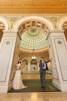 chicago cultural center wedding... i don't want to get married here but i LOVE this building