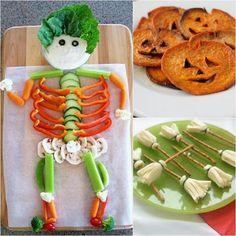 35 Healthy Halloween Fun Food Ideas For Your Kids - Smart Women Life Buffet Halloween, Diy Halloween Food, Hallowen Party, Healthy Halloween Snacks, Halloween Garland, Halloween Cupcakes, Fall Halloween, Happy Halloween, Halloween 2019