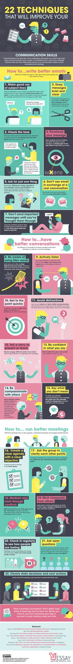 22 Ways to Improve Your Communication Skills Infographic - http://elearninginfographics.com/22-ways-to-improve-your-communication-skills-infographic/