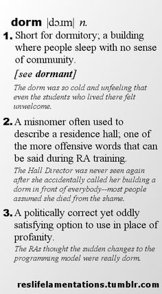 """@superkcooper @frescamarie at training we should start saying """"that is so dorm"""" ... yes?"""