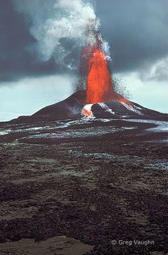 Pu'u O'o eruption, Kilauea Volcano, Hawaii Volcanoes National Park; photo by Greg Vaughn