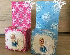 Caixa porta tubete Frozen