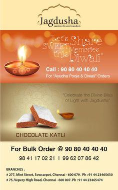 Enjoy the True taste of Chocolate Cutli with Jagdusha Sweets & Savories. . .It's time to taste. . .