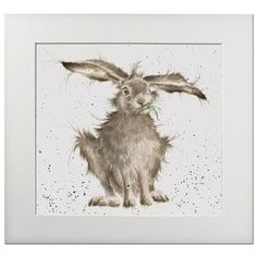 Hannah Dale - Hare Brained, Print, Signed & Mounted, 40x40cm