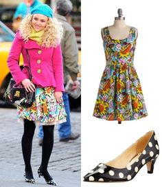 """The Carrie Diaries episode 11: Carrie Bradshaw's (AnnaSophia Robb) """"Good Enough to Eat"""" dress from Modcloth and Kate Spade Scene Polka Dot heels #getthelook #thecarriediaries"""