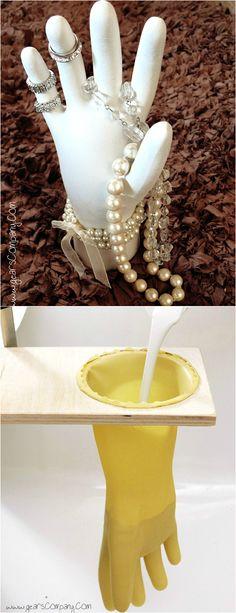 DIY ● Tutorial ● Plaster Jewelry Display mount it on a heavy base.