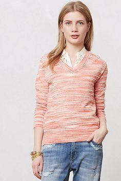 Marled Sheer Pullover by Moth #anthropologie