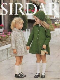 "Etsy: Sirdar 4250 Vintage Knitting Pattern Girls Coat With Hood or Collar 22-24"". $2.00, via Etsy."