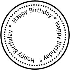 Birthday Text Wishes Cards Hy Printable Circle Template