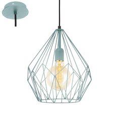 Lampa oprawa wisząca zwis żyrandol Eglo Carlton 1x60W E27 druciana miętowa 49259 - wysyłka w 24h - sklep internetowy swiatloistyl.pl