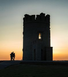 Sunset...O'Brien's Tower, Cliffs Of Moher,  Clare, Ireland.