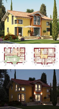 stadtvilla mediterran grundriss haus evolution 148 v 4 bien zenker fertighaus bauen - Fertighausplne