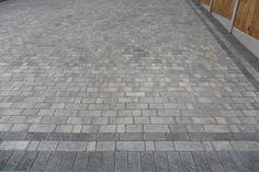 Driveways in West Bromwich, block paving driveways & sandstone patios Block Paving Driveway, Driveway Border, Stone Driveway, Garden Ideas Driveway, Driveway Design, Small Brick Patio, Brick Patios, Garden Floor, Garden Paving