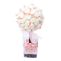 Sweet Trees Pink & White Mallows Tree, by Rivera Marshmallow Tree, Candy Trees, Sweet Buffet, Party Ideas, Party Party, Gift Ideas, Sweet Trees, Chocolate Bouquet, How To Make Chocolate