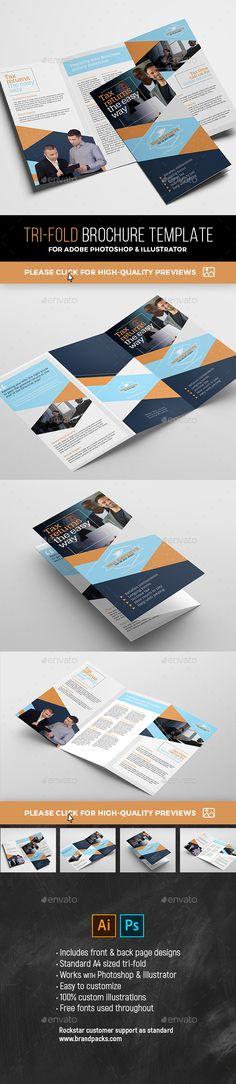 #Tri-Fold #Brochure Template - #Corporate Brochures