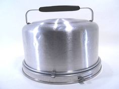 Mirro Aluminum Cake Carrier Vintage 50s by martasrose on Etsy