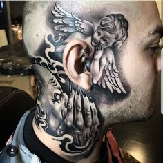 42 Amusing Pics and Images That Will Entertain You neck tattoos 42 Amusing Pics and Images That Will Entertain You Evil Tattoos, Gangster Tattoos, Chicano Tattoos, Badass Tattoos, Tattos, Cholo Tattoo, Best Neck Tattoos, Face Tattoos, Body Art Tattoos