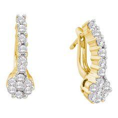 Jewelcology - Get 14k Yellow Gold 1.00Ctw Diamond Flower Earrings Earrings , $1,356.00 (http://jewelcology.com/get-14k-yellow-gold-1-00ctw-diamond-flower-earrings-earrings/)