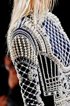 WOW. WOWWWWWW. Fashion. Detailed. Beading. Criss Cross. Pearls. COOL. Amazing. Time-consuming. Inspired.