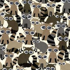 Hey, I found this really awesome Etsy listing at https://www.etsy.com/listing/198959624/michael-miller-fabric-ricky-racoon-taupe