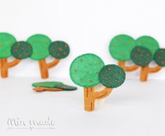 2 PCS Handmade Felt Tree Applique FA001 by MinmadeCute on Etsy
