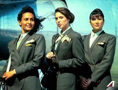 1991 - Giorgio Armani #Alitalia #divise #vintage #style #uniforms #flight #glamour #MadeinItaly #moda #Italia #Armani #GiorgioArmani