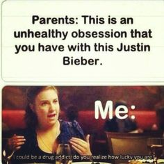 "MY MOM SAID SHE WAS WORRIED ABOUT MY ""Bieber"" OBSESSION. DEAD SERIOUS.  ~:Darby"