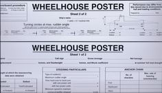 Wheelhouse Poster - Complete with Wet-Wipe Pen