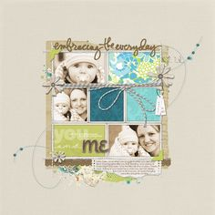 love! baby-scrapbook-layout-from-Melissa