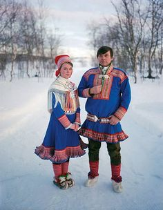 The Sami People by Erika Larsen. Photographer Erika Larsen traveled to Scandinavia to document the lives of the Sami people. The Sami's spread across northern Norway, Sweden, Finland and Russia. Sami's are best known for their. Lappland, Folk Costume, Costumes, Thinking Day, People Of The World, Samar, Historical Clothing, World Cultures, Traditional Dresses