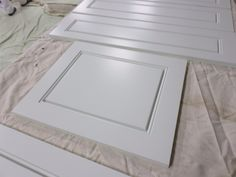 Finished cabinet doors from our spray shop!
