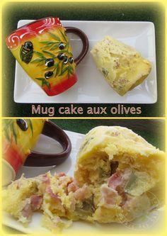 Mug cake aux olives