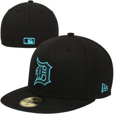 New Era Detroit Tigers Nylo Vize 59FIFTY Fitted Hat - Black Madd Hatter 4e6c9ce7a5b
