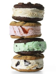 suddenly homemade ice cream sandwiches are popular, but I've made them for years. Cake mix cookies make the best sandwiching cookies!