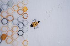 Bee-utiful QAL {Block 5 – Bee Courteous} « Moda Bake Shop