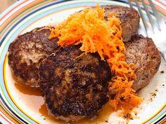 Jauheliha-porkkanapihvit Fodmap Recipes, Steak, Food And Drink, Beef, Koti, Meat, Steaks
