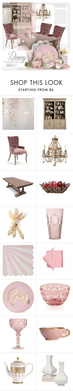 """""""DINE-IN   FORMAL DINING ROOM"""" by giudittina ❤ liked on Polyvore featuring interior, interiors, interior design, home, home decor, interior decorating, Astek, Dot & Bo, One Hundred 80 Degrees and Baci"""